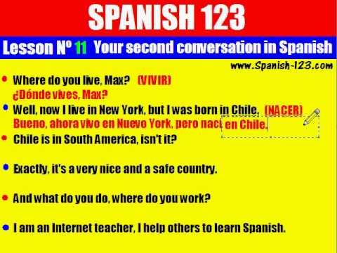 Class 11. Your Second Conversation in Spanish.