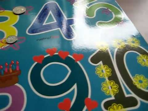 Number poster & coins