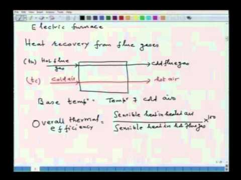 Mod-01 Lec-18 Heat Utilization in furnaces, energy flow diagrams