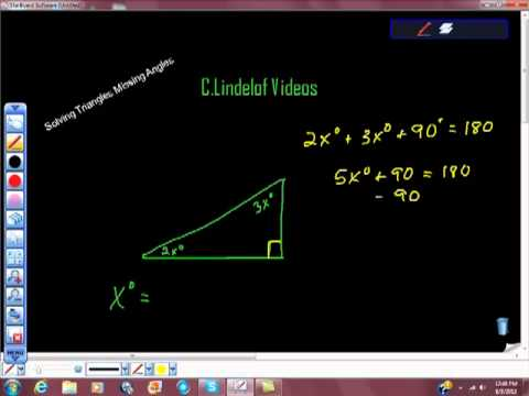 Solving Triangles Finding Missing Degree Measure
