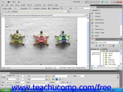 Dreamweaver CS5 Tutorial Creating Image Maps Adobe Training Lesson 5.3