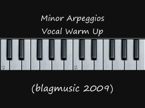 Music Theory - Minor Scale Arpeggios - Vocal Warm Up Internalisation Exercise