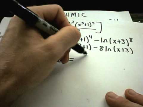 Logarithmic Differentiation - Basic Idea and Example