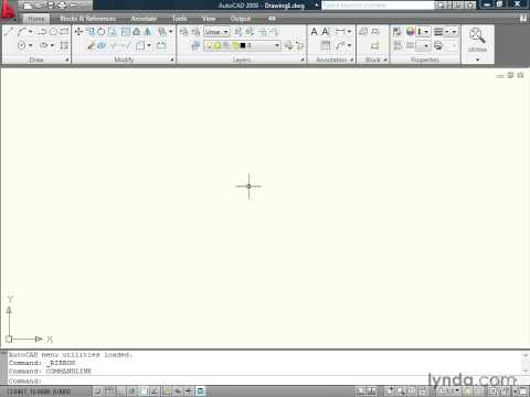 Exploring the AutoCAD 2009 interface | lynda.com tutorial