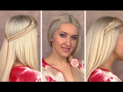 Easy cute back to school hairstyles for long hair 2012 Perfect fishtail braids tutorial