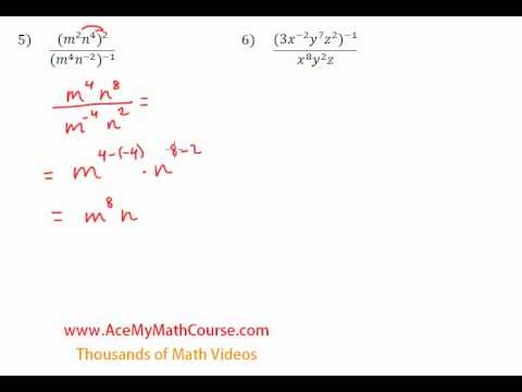 Simplifying Exponents - Questions #5-6
