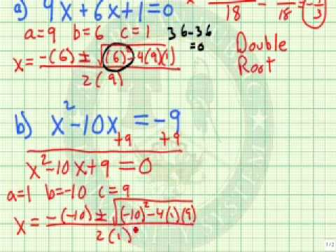 Use the Quadratic Formula to Solve a Quadratic Equation