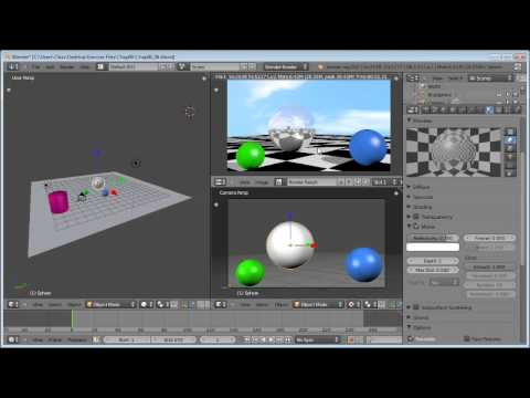 How to create reflections in Blender 2.6 | lynda.com tutorial