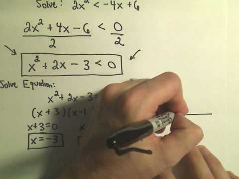 Solving Quadratic Inequalities, More Examples - Example 2