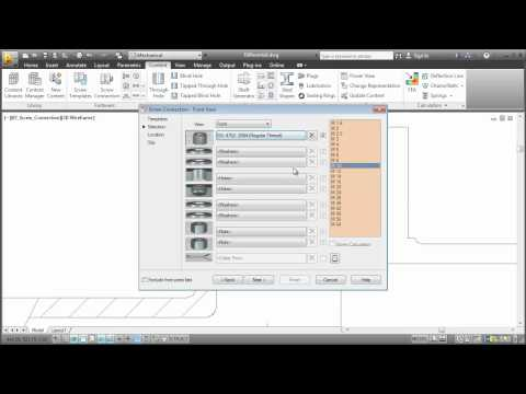 Content Libraries: AutoCAD Mechanical 2013
