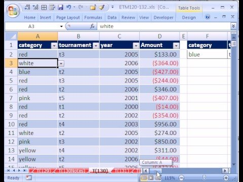 Excel Magic Trick #130: 3 Dimensional Database in Excel