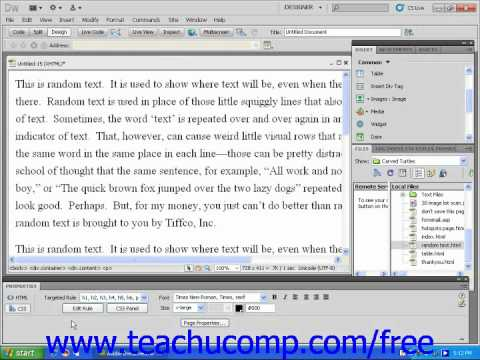 Dreamweaver CS5 Tutorial Editing CSS Styles Adobe Training Lesson 8.2