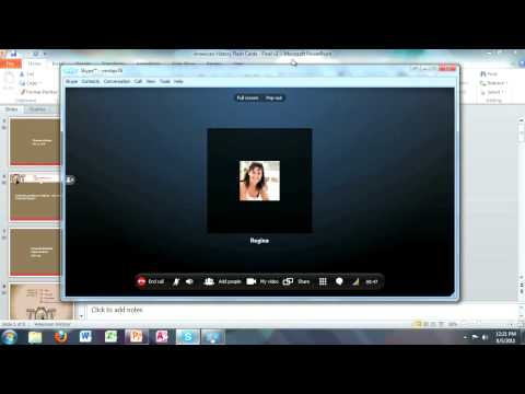 Skype: Screen and File Sharing with Skype