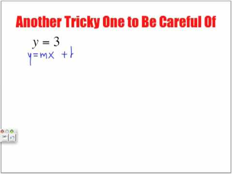 Tricky Slope Equations to Be Careful Of