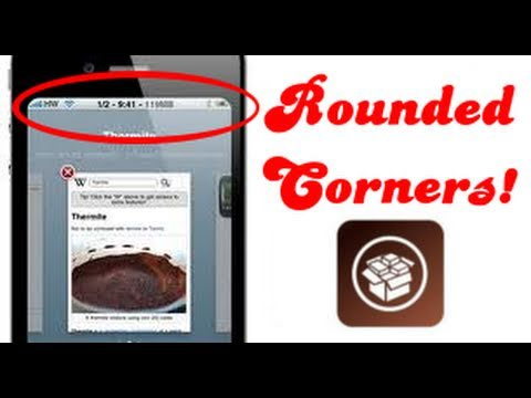Free Cydia Tweak - Round Corners for you iPhone, iPod Touch & iPad