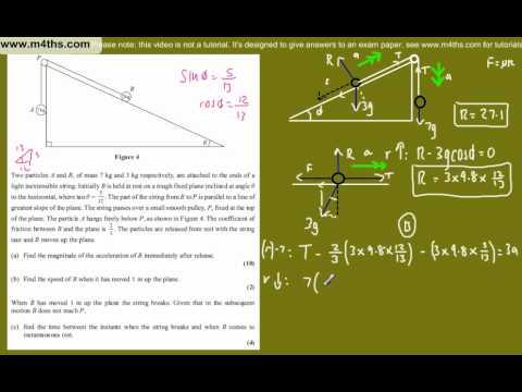 (question 7) Edexcel M1 2011 January - Mechanics AS exam