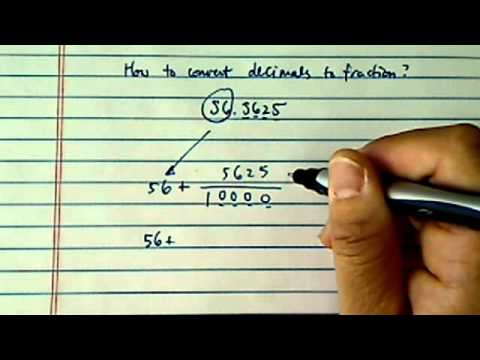 how to convert decimals to fractions