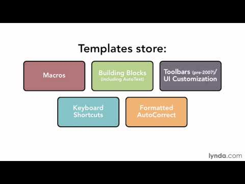 The fundamentals of Word templates | lynda.com tutorial