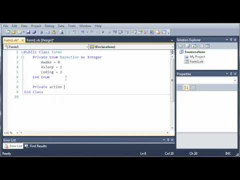 Visual Basic Tutorial - 64 - Enumerations