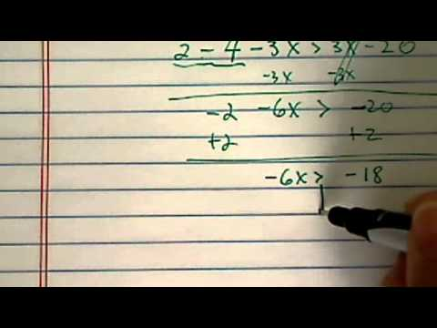 how to solve inequality???