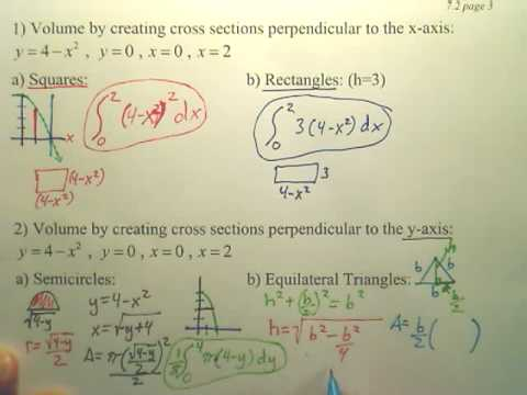 7.2c3 Volume Disk Method - Calculus