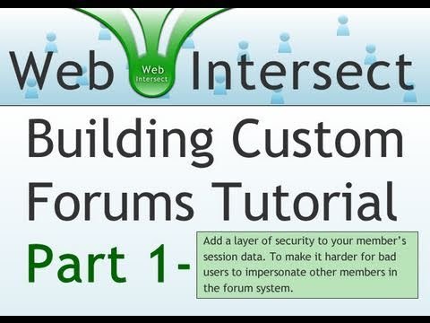 1. Web Intersect Forum Tutorial : Learn to build simple forums using PHP and MySQL