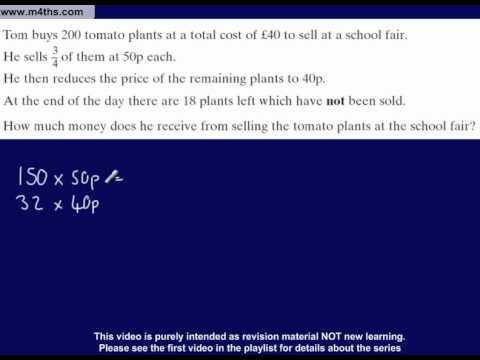 (21) C to D Grade GCSE Questions Playlist Non calculator calculations!