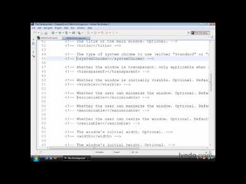 AIR, Flex: Using the descriptor file | lynda.com