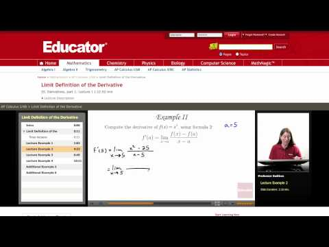 AP Calculus AB: Limit Definition of the Derivative