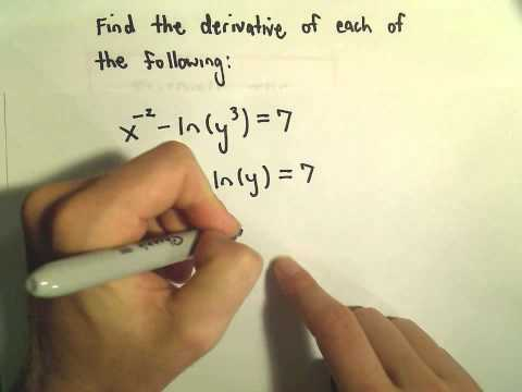 Implicit Differentiation - Basic Example 1 / 3