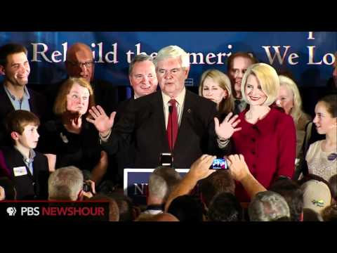 Watch Newt Gingrich's South Carolina Primary Victory Speech