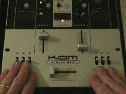 A look at kill switches on a dj mixer. The KAM KCM 450 MK 2