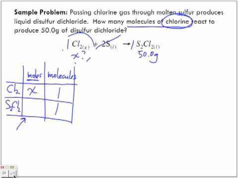 Stoichiometry Sample Problems Part 5