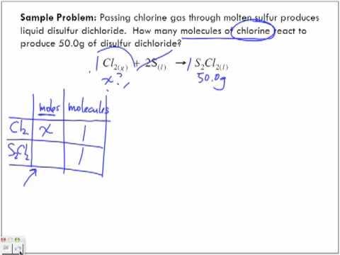 Stoichiometry Sample Problems Part 5