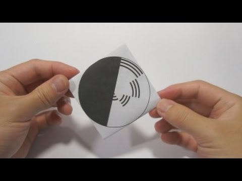 Optical Illusion - Benham's Disk using origami Spinning Top