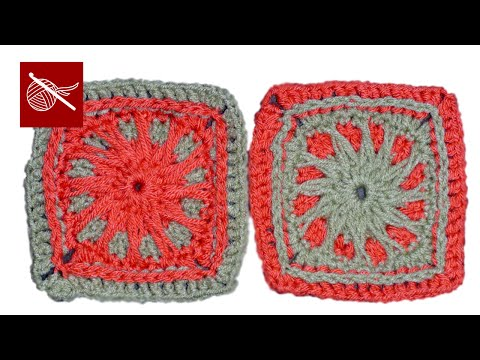 Crochet Geek - Sun Beam Crochet Granny Square