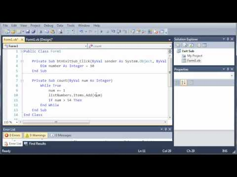 Visual Basic Tutorial - 48 - Exit Subs