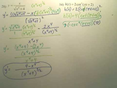 2.4 Chain Rule Practice 3 - Calculus