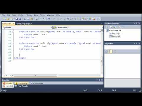 Visual Basic Tutorial - 55 - Calculator Part 2