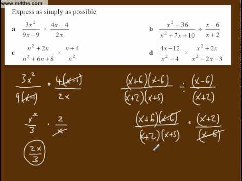 (e) Simplifying Algebraic Fractions Core 3 playlist (multiplication and division 1)