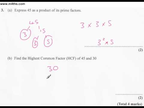 q3 Edexcel Linear Higher June 2011 calculator (quick worked example)
