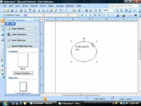 Publisher Tutorial Adding Text to Shapes Microsoft Training Lesson 3.2