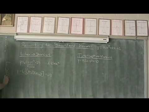 Rewriting Quadratics to Standard Form