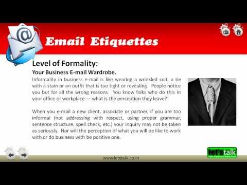 Email Etiquettes Training - www.letstalk.co.in