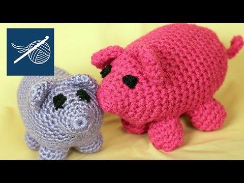 Left Hand Crochet - How to Make a Crochet Amigurumi Pig Left Hand Version
