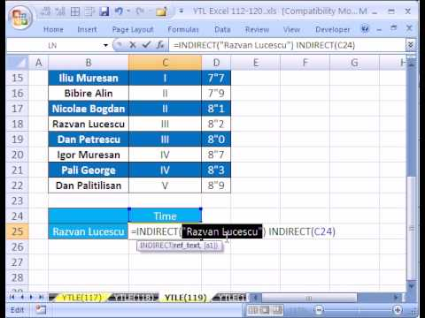 YTL Excel #119: Amazing Lookup Solution!  INDIRECT &SUBSTITUTE functions & Defined Names