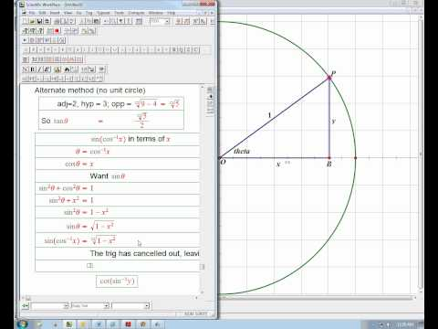 Combining forward and inverse trig functions part 3