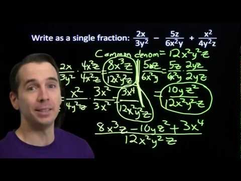 Art of Problem Solving: Fractions and Multiple Variables