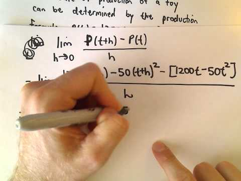 Finding Instantaneous Rates of Change Using Def'n of Derivative