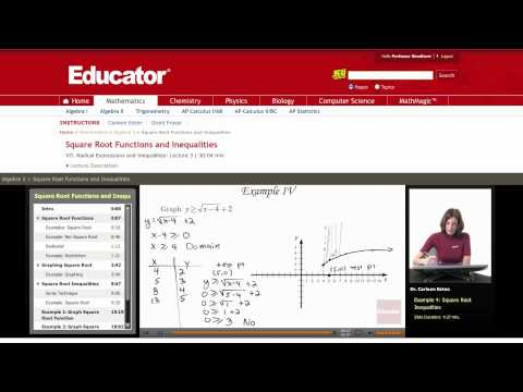 Algebra 2: Square Root Functions and Inequalities